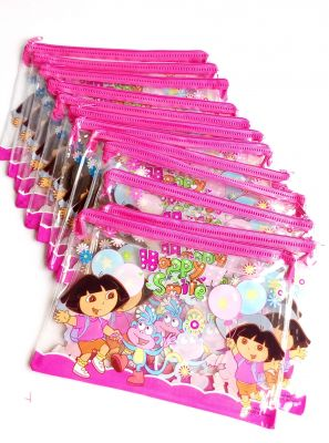 6 PCs Dora Kids School Exam Zip Pouch Best Birthday Return Gift Rg391