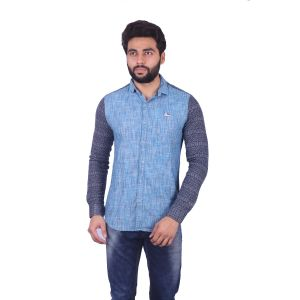 Buy Mercury Men's Red Cotton Brushing Chex Shirt With Knitted Sleeve J_356_b online