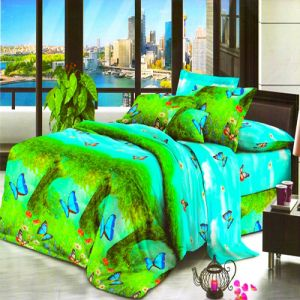 Buy Vertex Industries 3d Polyester Double Bedsheet With 2 Pillow Cover Vibs.1004 online