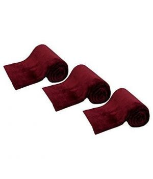 Buy Peponi Brown Color Double Fleece Blanket Set Of 3 online