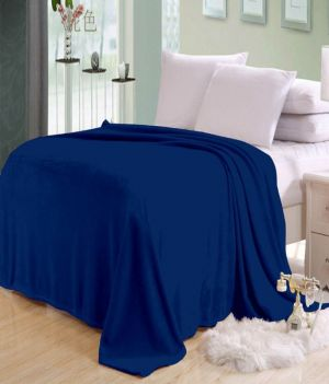 Buy Sai Arpan's Blue Solid Plain Double Bed Ac Blanket online