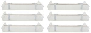 Buy Horseway White Color Marble Designed Acrylic Wall Shelf - 12x5 Inch - Set Of 6 online