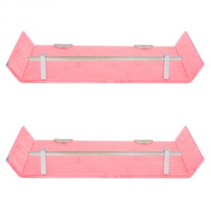 Buy Horseway Pink Color Marble Designed Acrylic Wall Shelf - 12x5 Inch - Set Of 2 online
