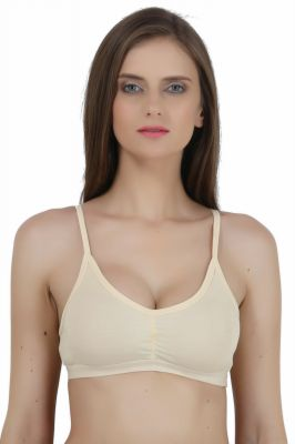 Buy Maxxone Fd Full Coverage Non Padded Beige Hosiery Cotton Bra_mx001018035 online