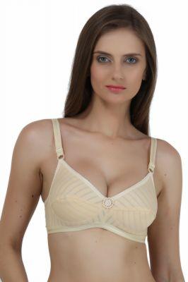 Buy Maxxone Superstar Full Coverage Non Padded Beige Cotton Bra_mx001018004 online
