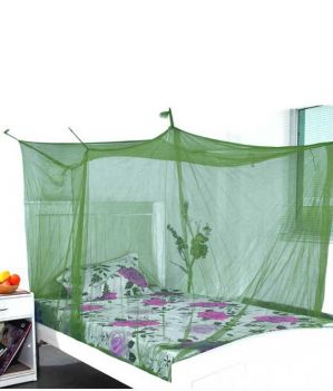 Buy Shahji Creation Green Polyester Single Bed Mosquito Net online