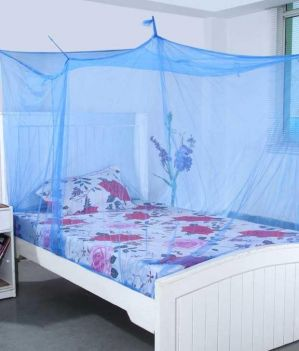 Buy Shahji Creation Blue Polyester Double Bed Mosquito Net online