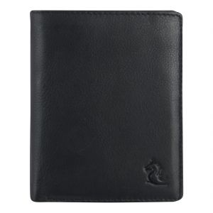 Buy Kara Black Color Bi-fold Leather Wallet For Men online