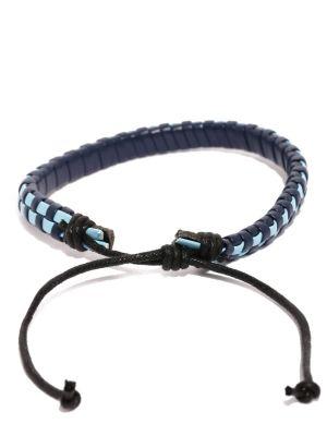 Buy Tipsyfly Western Blue Checks Bracelet For Men-019mob online