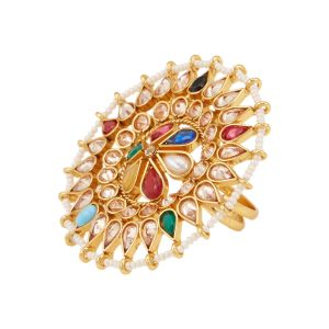 Buy Tipsyfly Navratna Ethnic Ring For Women-1011r online