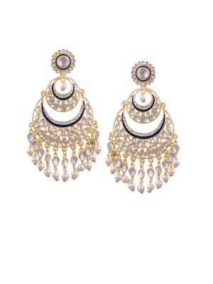 Buy Tipsyfly Post & Back Closure Black Alloy Chandbalis Earrings For Womens online