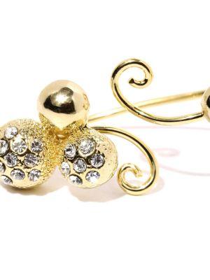 Buy Tipsyfly Western Golden Ball Double Ring For Women-120r online