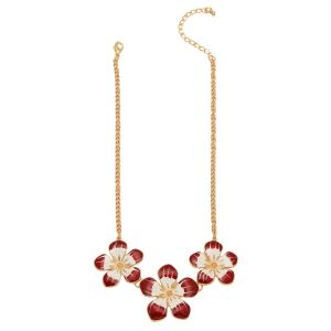 Buy Tipsyfly Red Color Alloy Perennial Blossom Necklace For Women_241nred online