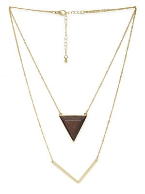 Buy Tipsyfly Tri-bi Gold Color Necklace For Women online
