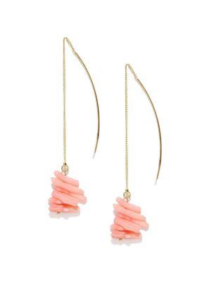 Buy Tipsyfly Western Coral Drop Earrings For Women-523e online