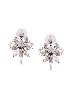 Buy Tipsyfly Post And Back Closure White Alloy Stud Earrings For Womens online