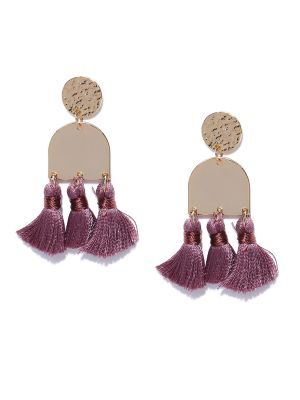 Buy Tipsyfly Post & Back Closure Purple Alloy Drop Earrings For Womens online