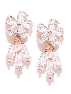 Buy Tipsyfly Post & Back Closure Rose Gold Alloy Studs Earrings For Womens online