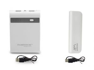 Buy Ambrane Power Bank P1000 Star White 10400 mAh With P201 2200 mAh Power Bank online