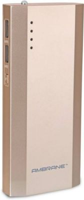 Buy Ambrane Power Bank P-1111 10000mah - Gold online