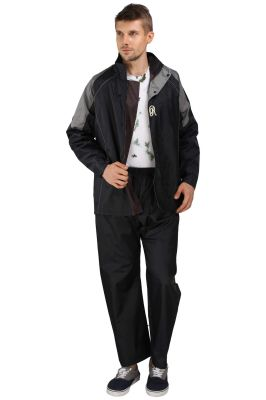Buy Real Rainwear Black Nylon Lining Raincoat For Men'S online