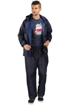 Buy Real Rainwear Navy Blue Reflected Back Strip,matching Pvc Lining With Inner Pockets For Men's-rrponb online