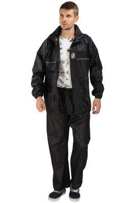Buy Real Rainwear Black Nylon Rainsuit With Simples Design For Men's-rrskbk online