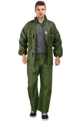 Buy Real Rainwear Green Nylon Rainsuit With Simples Design For Men's-rrskgr online