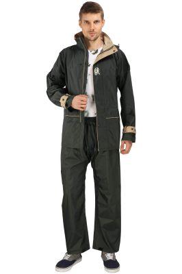 Buy Real Rainwear Green Nylon Lining Raincoat For Men's-rrspgr online