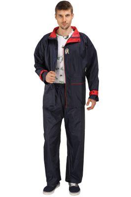 Buy Real Rainwear Navy Blue Nylon Lining Raincoat For Men's-rrspnb online