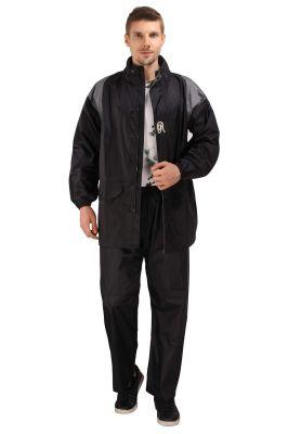 Buy Real Rainwear Black Nylon Lining Raincoat For Men's-rrtrbk online