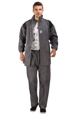 Buy Real Rainwear Grey Nylon Lining Raincoat For Men'S online