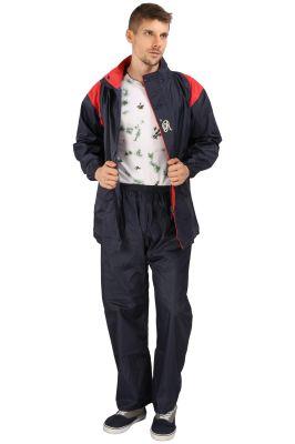 Buy Real Rainwear Navy Blue Nylon Lining Raincoat For Men's-rrtrnb online
