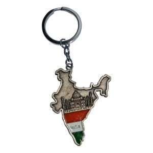 Buy Jharjhar Indian Map Key Chain online