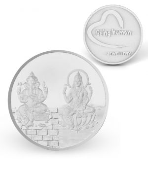 Buy P.n.gadgil Jewellers 20 Gms Being Human & Laxmi Ganesh Silver Coin online
