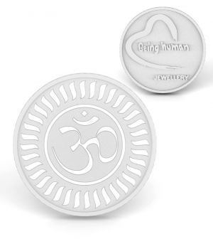 Buy P.n.gadgil Jewellers 50 Gms Being Human & Om Silver Coin online