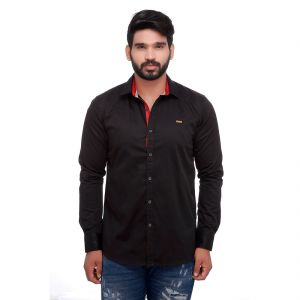 Buy Black Club Slim Fit Men's Casuals Shirt From Rollerfashions online