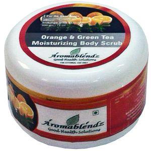 Buy Aromablendz Orange & Green Tea Body Polishing Scrub 500gm online
