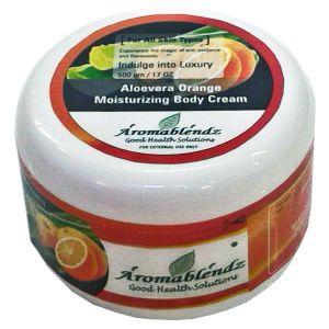Buy Aromablendz Aloevera & Orange Moisturizing Body Cream online