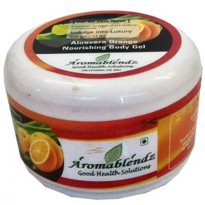 Buy Aromablendz Aloevera & Orange Nourishing Body Gel 500g online