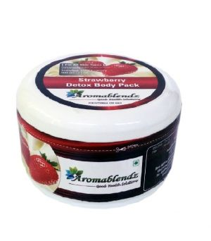 Buy Aromablendz Strawberry Detox Body Pack - Pink 150gms online