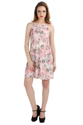 Buy Bella Figura Couture Dusty Pink Moss Crepe Printed Dress For Women-bf139bdp online