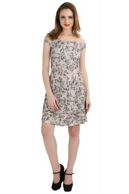 Buy Bella Figura Couture Grey Moss Crepe Printed Dress For Women-bf140agr online