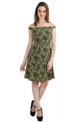 Buy Bella Figura Couture Green Dope Dyed Stretch Dress For Women-bf140bg online