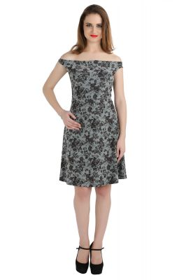 Buy Bella Figura Couture Grey Dope Dyed Stretch Dress For Women online