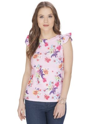Buy Bella Figura Couture Pink Printed Top For Women - Bf141bpnk online