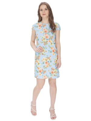 Buy Bella Figura Couture Light Blue Printed Dress For Women online
