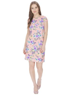 Buy Bella Figura Couture Pink Printed Dress For Women - Bf148pch online