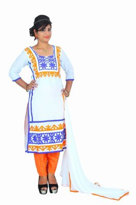 Buy Ellis Harvey White Latest Embroidery Work Salwar Suit Eh_949 online