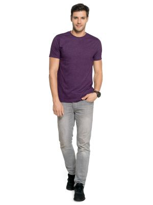 Buy Zorchee Men's Round Neck Half Sleeve Poly-cotton T-shirts - Grape Royal (zo-04pl) online